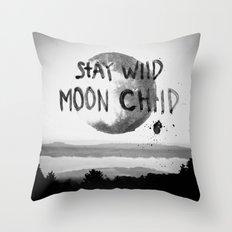 Stay wild (black & white) Throw Pillow