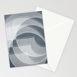 Spacial Orbiting Spiral in Peninsula Blue Stationery Cards