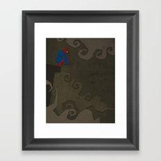 Paper Heroes - Spiderman Framed Art Print