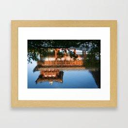 Temple reflected Framed Art Print