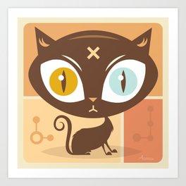 The cat did it... Art Print