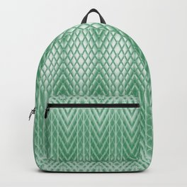 Cool Mint Green Frosted Geometric Design Backpack