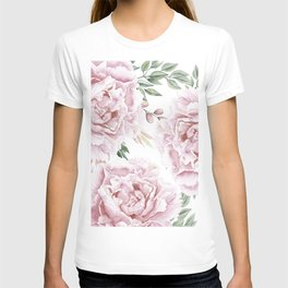 Pretty Pink Roses Floral Garden T-shirt