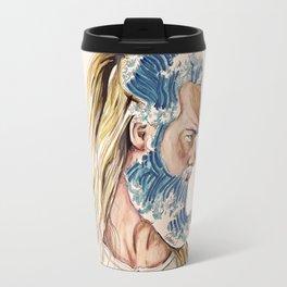 King of waves Travel Mug