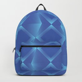 Glowing Squares - Blue Backpack