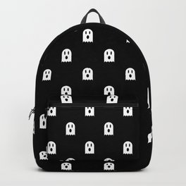 Scary Halloween Ghost Polka Dot Pattern Backpack