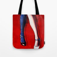 legs Tote Bags featuring Legs by Ed Pires