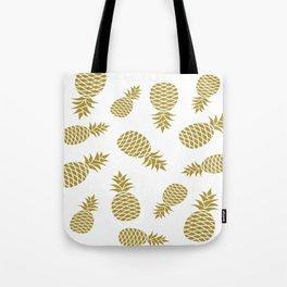 Golden pineapple pattern Tote Bag