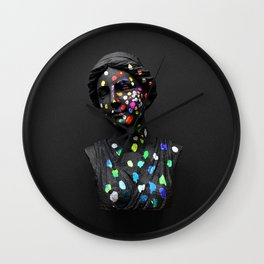 When She Thought of Stars Wall Clock