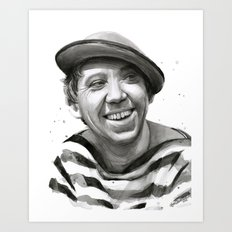 Yuriy Nikulin Portrait Watercolor | Юрий Никулин портрет Art Print