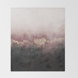 Pink Sky Throw Blanket