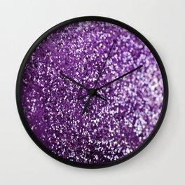 Purple Glitter #1 #decor #art #society6 Wall Clock