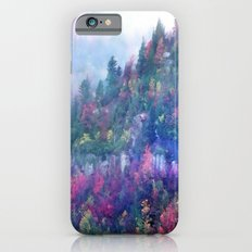 Fog over a colorful fall mountain forest iPhone 6s Slim Case