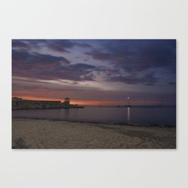 Front Beach After sunset Canvas Print