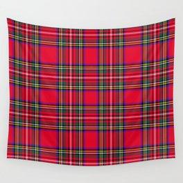 Red Plaid Christmas Scottish Tartan Wall Tapestry