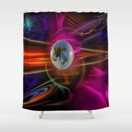 Mystical world - Love greetings Shower Curtain