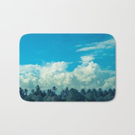 Clouds and Palmtrees Bath Mat