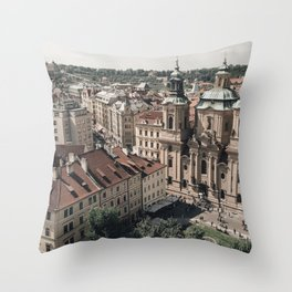 Prague Rooftop 01 Throw Pillow