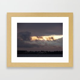 james river cotton candy sky Framed Art Print