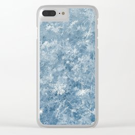 Snowflakes background macro winter Clear iPhone Case