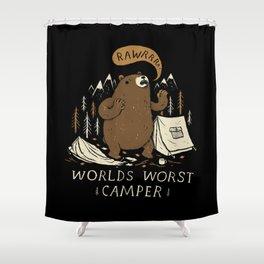 worlds worst camper Shower Curtain