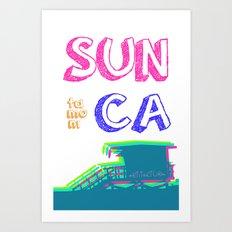 SUNta moniCA Art Print