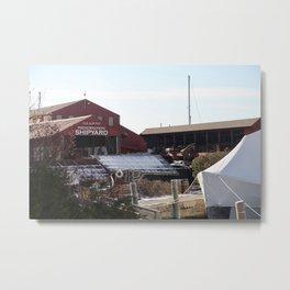Red Barn ShipYard Metal Print