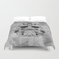 storm trooper Duvet Covers featuring Storm Trooper #1 by vrdgrs