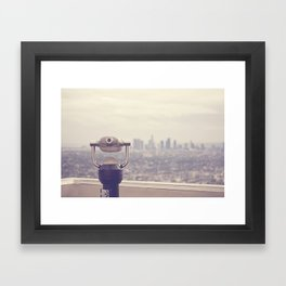 The View: Los Angeles Framed Art Print