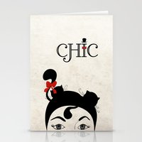 chic Stationery Cards featuring Chic by Aleksandra Mikolajczak