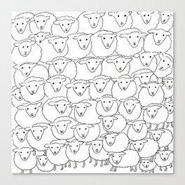 A Bunch of Sheepies Canvas Print