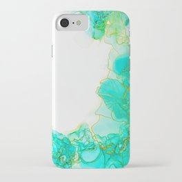 Green with Envy   Painting   Alcohol Ink   Abstract iPhone Case