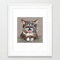 lil bub Framed Art Prints featuring Cat *Lil Bub*  by Pendientera
