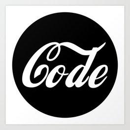 Coca Code Art Print