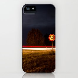 Lines on the route iPhone Case