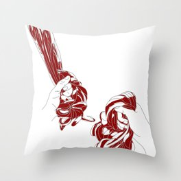 Rapunzel - brothers Grimm illustration Throw Pillow