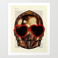 Star Wars C-3PO Fretful Protocol Droid Art Print