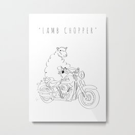 'Lamb Chopper' Metal Print
