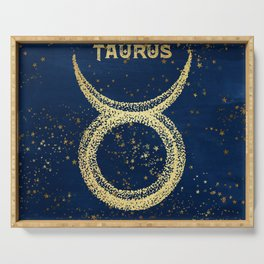 Taurus Zodiac Sign Serving Tray