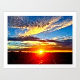 Sunset in Tucson, Arizona Art Print