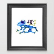 The Blue Cat Framed Art Print