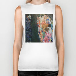 "Gustav Klimt ""Death and Life"" Biker Tank"