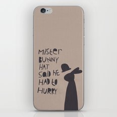 Mister Bunny Hat iPhone & iPod Skin