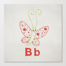 B Butterfly Canvas Print