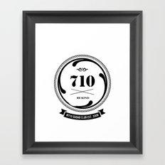 the 710  Framed Art Print