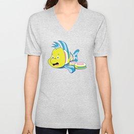 Flounder Sushi Unisex V-Neck