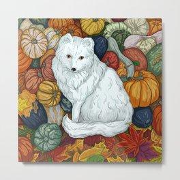 Arctic Fox. October. Metal Print