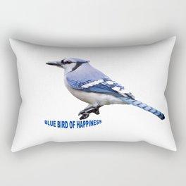 Blue Bird of Happiness Rectangular Pillow
