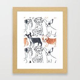 dogs pattern Framed Art Print