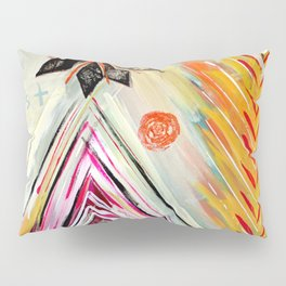 """""""True North"""" Original Painting by Flora Bowley Pillow Sham"""